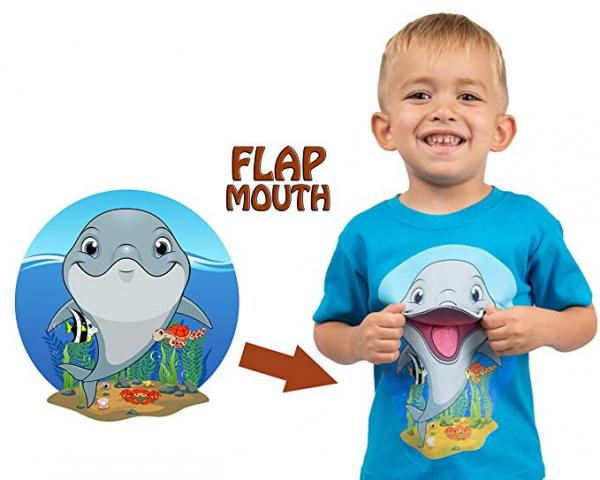 Interactive Dolphin Flap Mouth T-Shirt