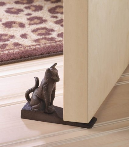 Sitting Kitten Door Stop
