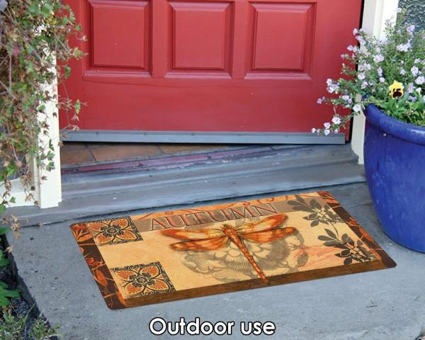 Autumn Dragonfly Doormat