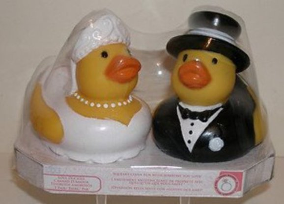 Bride and Groom Rubber Duckies