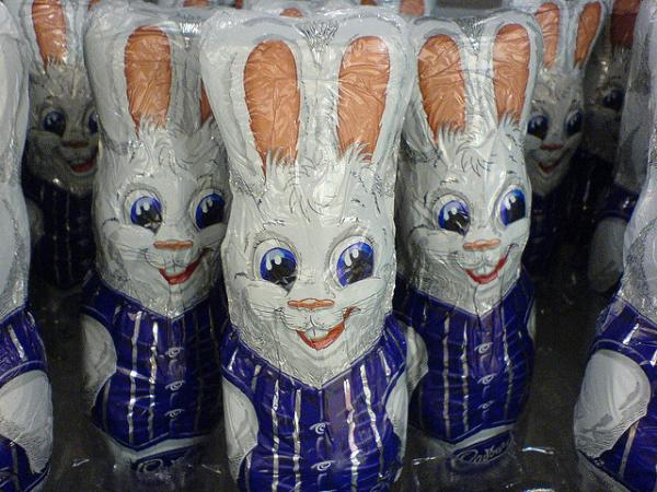 Easter Chocolate Bunny Army