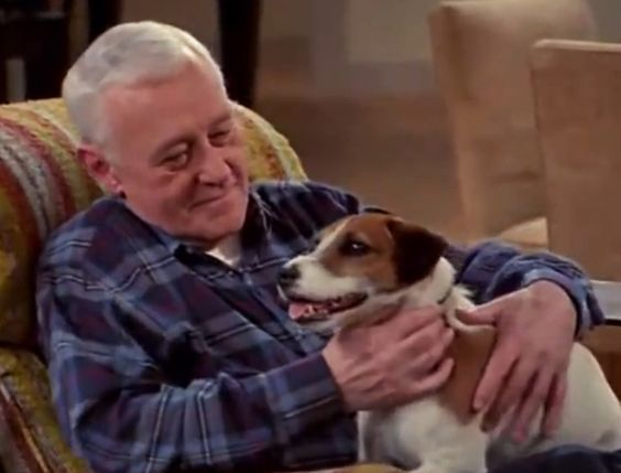 Moose as Eddie with John Mahoney as Marty Crane