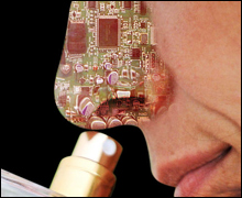 Fanciful image of electronic nose: image via medlaunches.com