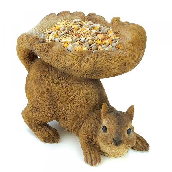 Brown Squirrel Outdoor Bird Feeder