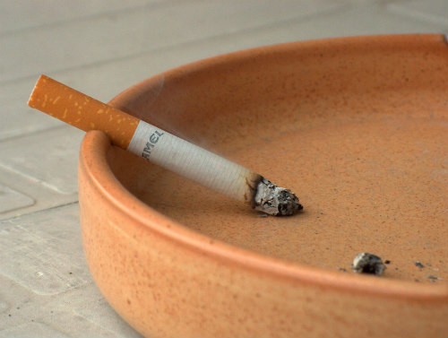 Fill empty ashtrays with kitty litter for odor control and snuffing out cigarettes instantly