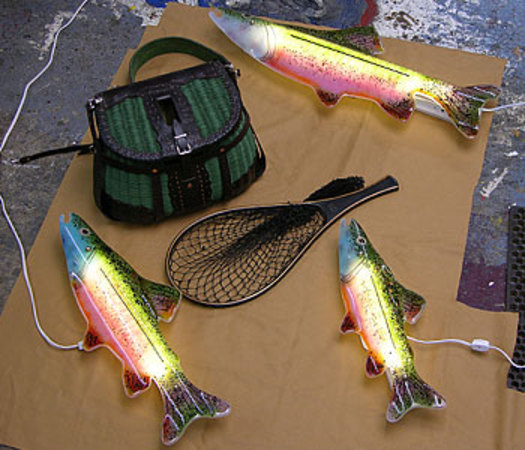 A trout fish light can dress up any man cave in style