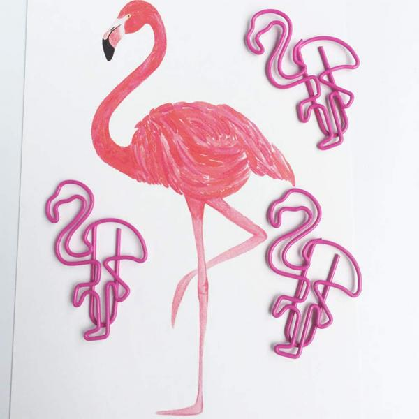 Pink Flamingo Paper Clips