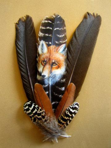 Foxy Lady by Kodriak: Here's a feather to put in your hat. Fox art by Kodriak