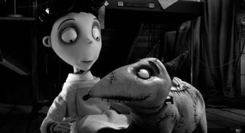 Frankenweenie's lead characters Victor and his dog, Sparky: image via movies.about.com