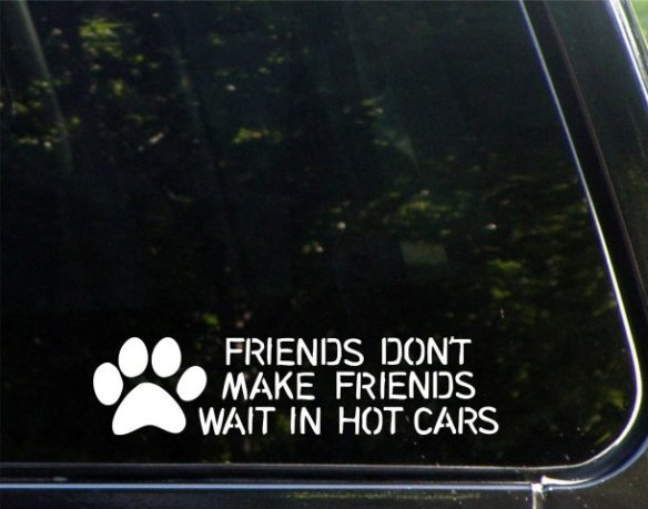 Friends Don't Make Friends Wait In Hot Cars Sticker