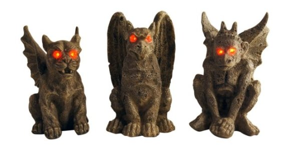 Small Creepy Halloween Gargoyles