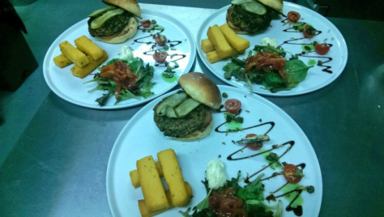 Grub Kitchen bug burger platters