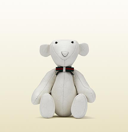 White Gucci Teddy Bear