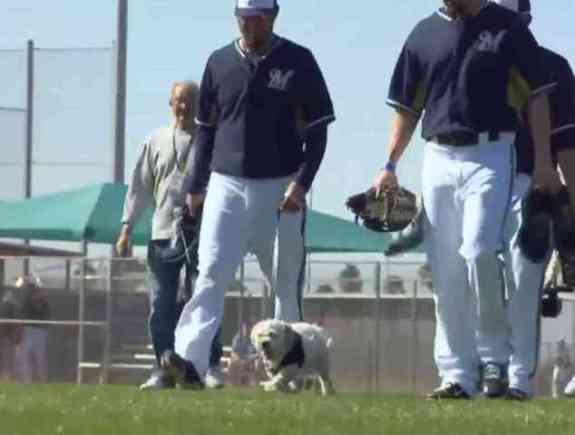 Hank at Spring Training with the Team (You Tube Image)
