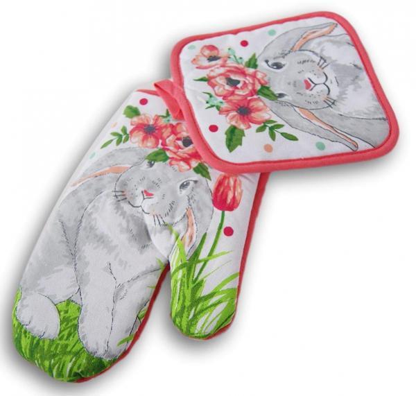 Bunny Pot Holder and Oven Mitt