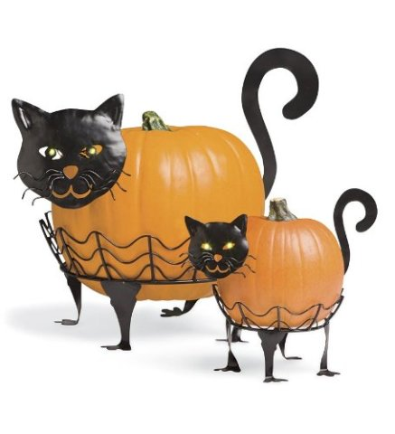 Black Cat Pumpkin Holders