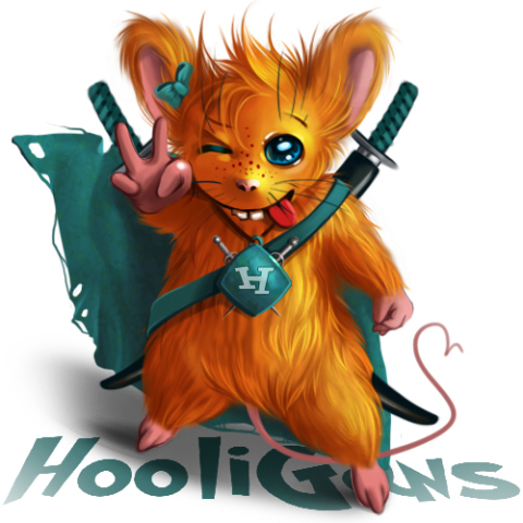 Hoolimaice by Anntema: Hooligan mouse might look cute, but might be up to no good!