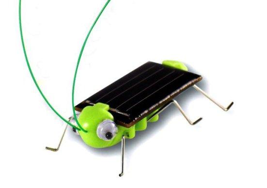 Solar-Powered Frightened Grasshopper