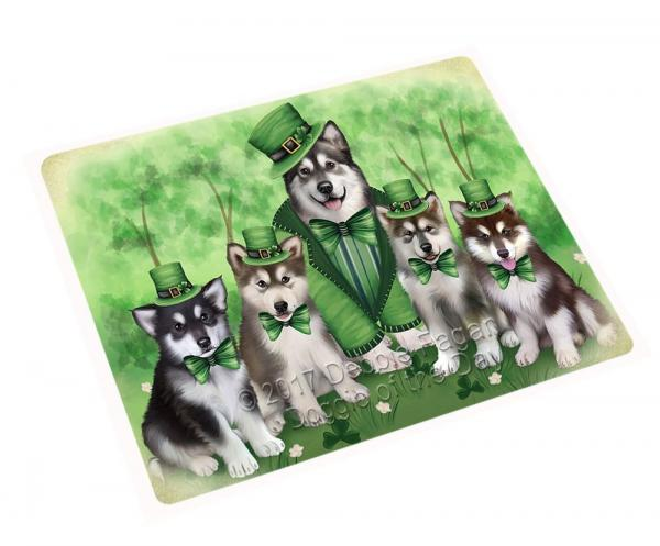 St. Patrick's Day Malamute Family Blanket