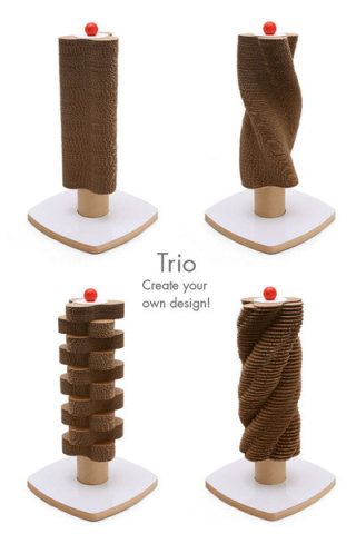 Trio Scratch Tower for cats: © Moderncat Design
