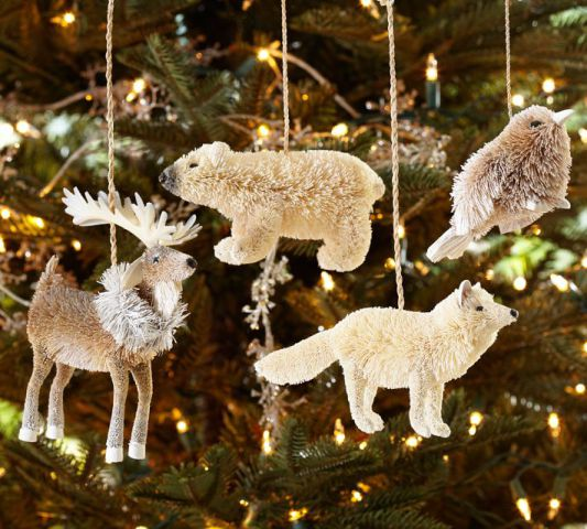 Artic Buri Fiber Animal ornaments
