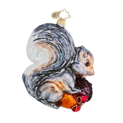 Storing Up For Winter, 2012, squirrel ornament, by Christopher Radko