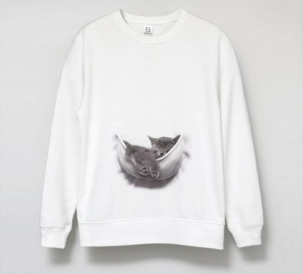 Optical Illusion Sweatshirt Puts A Kitten In Your Pocket