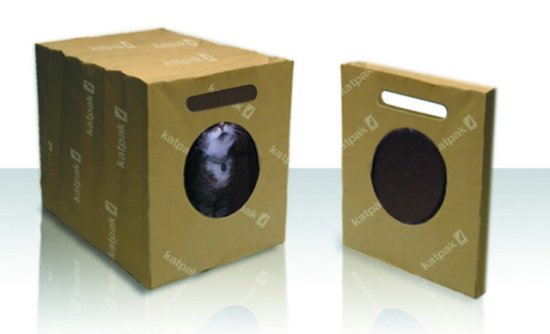Katpak, biodegradable kitty litter box: ©Supercool Kitty Ltd.
