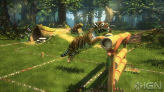 Kinectables: Train your tiger for the agility course: ©IGN
