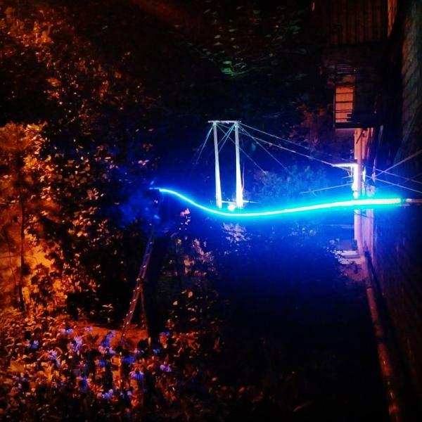 Russian Apartment Dweller Builds Glow-In-The-Dark Bridge For His Cat