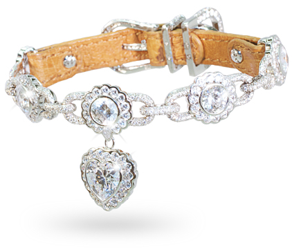 La Chéri diamond dog collar: © I Love Dogs Diamonds
