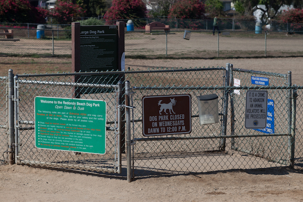 Dog Park Entrance is like an antiroom