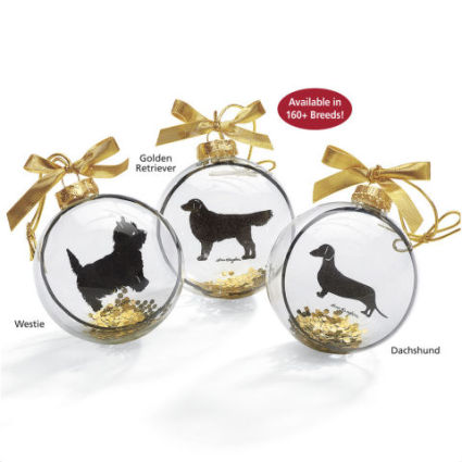 Dog Breed Silhouette Ornament