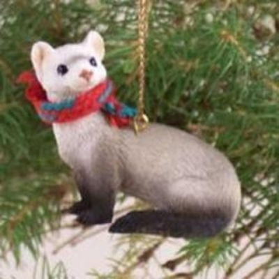 Hand-painted Ferret Ornament