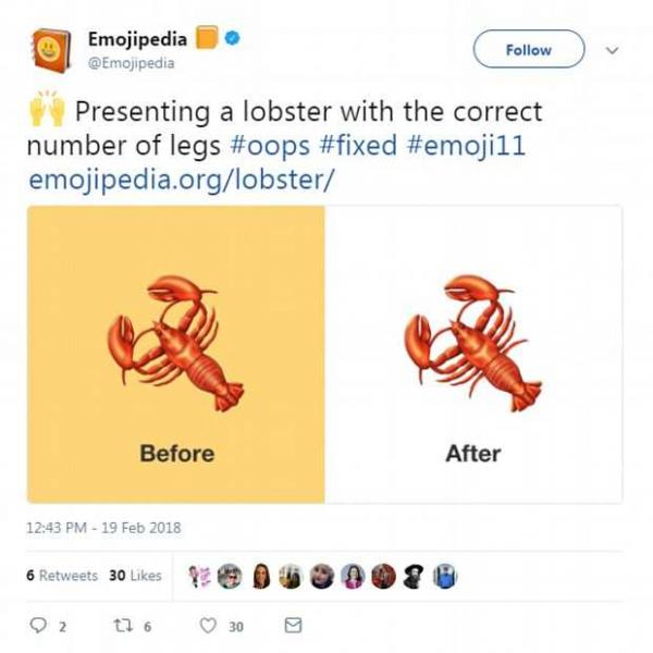 New Lobster Emoji Is Now Anatomically Correct