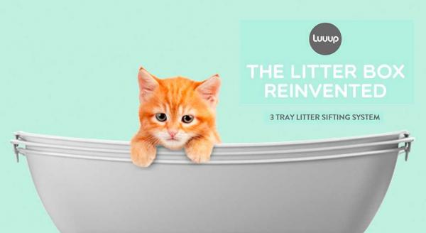 The Luuup Scoopless Cat Litter Box Lets You Scoop Less Poop