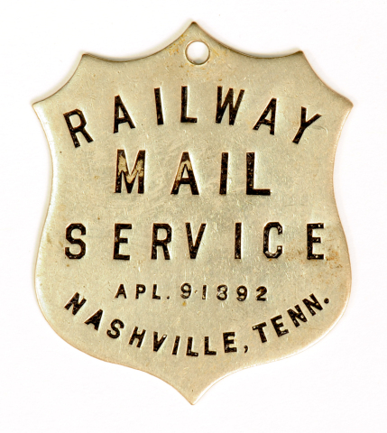 One of Owney's Many Tags (Used by Permission of the National Postal Museum)