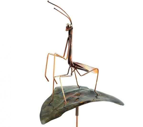 Praying Mantis Garden Stake