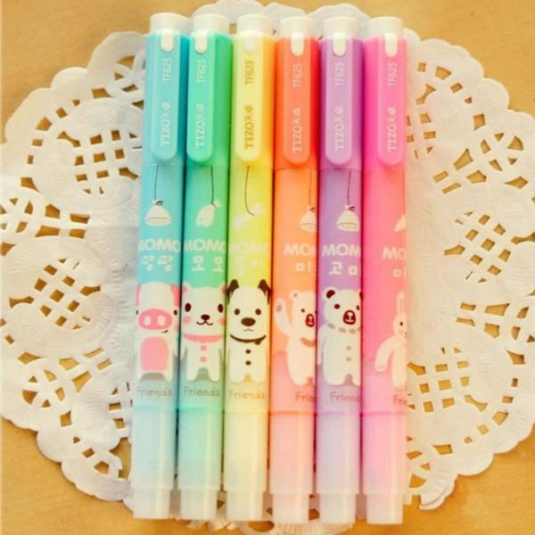 Animal Double-Tipped Highlighters