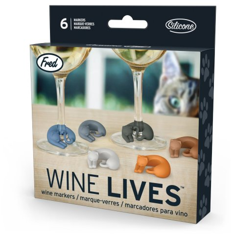 Wine Lives Kitty Drink Markers