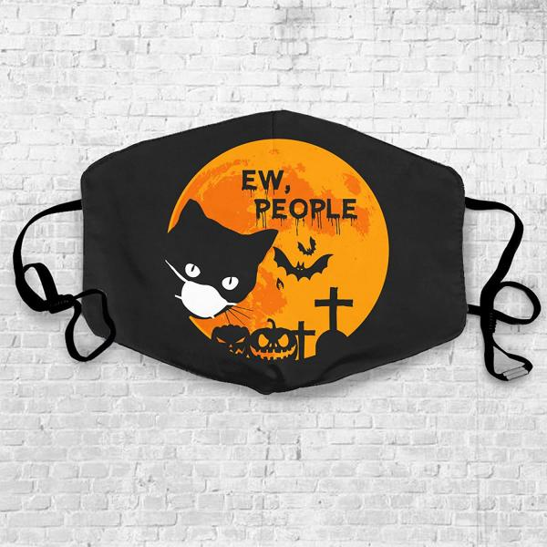 "Black Cat ""Ew People"" Mask"