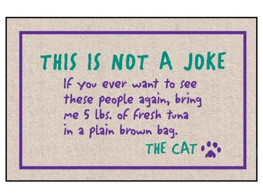 This is not a joke. Doormat