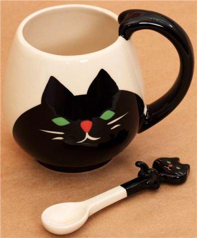 Manmaru Cat Mug and Spoon