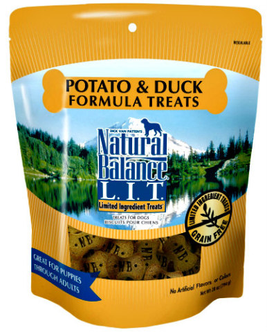 Dic Van Patten's Natural Balance: Potato & duck limited ingredient dog treats