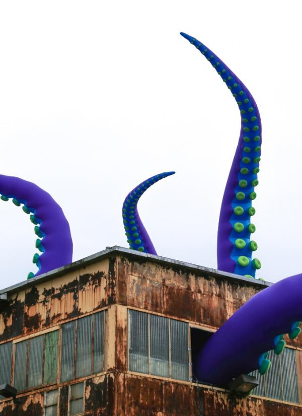 Giant Sea Monster Invades Old Philadelphia Navy Yard
