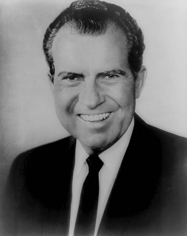 Richard M. Nixon, 37th President of the United States (Public Domain Image)