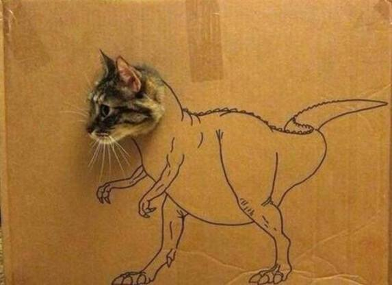 Kit-T-Rex (Image via Nothing but Tons of Kitty Cats)