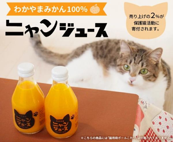 'Nyan Juice' For Cat Lovers Supports Orange Farmers & Shelter Cats