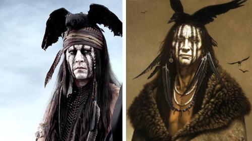 Johnny Depp takes inspiration from Kirby Sattler portrait