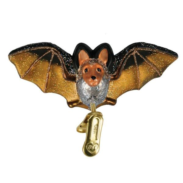 Blown Glass Bat Ornament